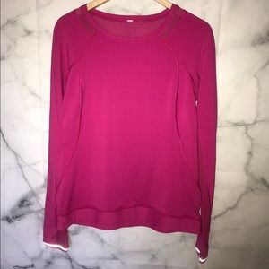 LULULEMON long sleeve pink top